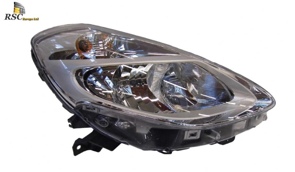 NEW RENAULT CLIO III PHASE 2 RIGHT Headlamp Halogen Chrome Type (Not Cornering Type)